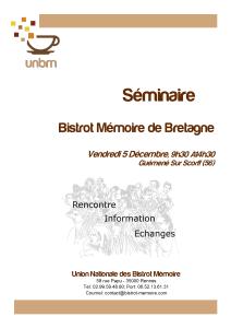 Séminaire BM de Bretagne 5.12.14